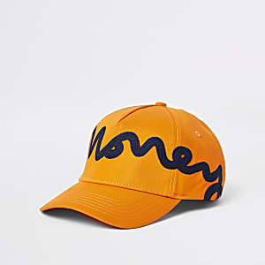 Money Clothing orange baseball cap