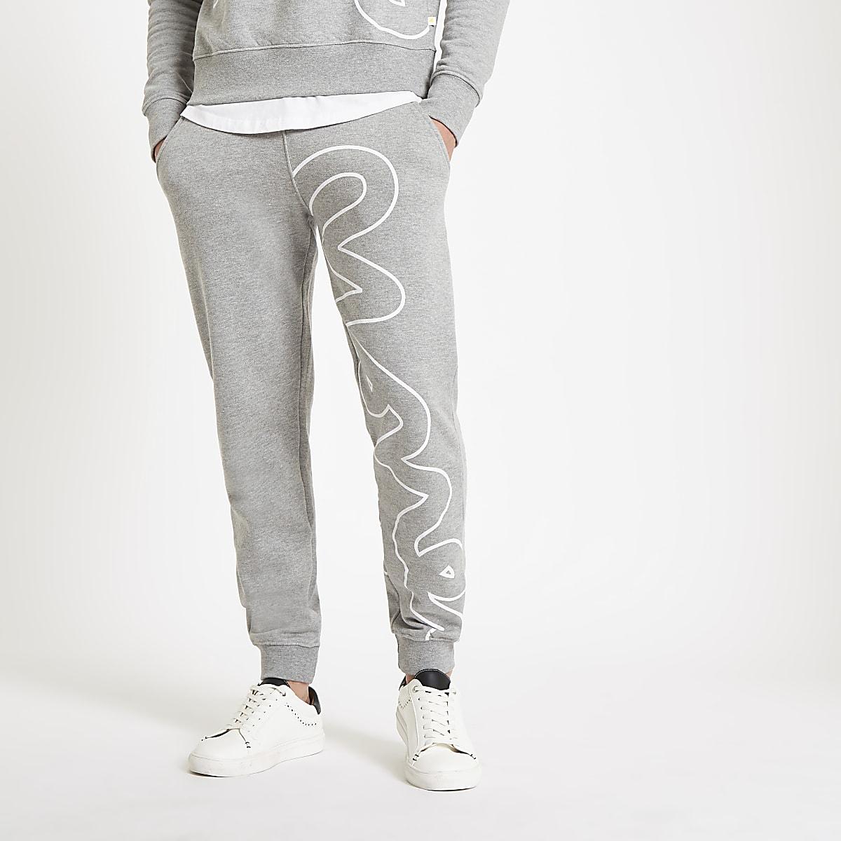Grijze Joggingbroek.Money Clothing Grijze Joggingbroek Joggingbroeken Heren