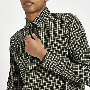 Only & Sons Tony - Donkergroen geruit overhemd