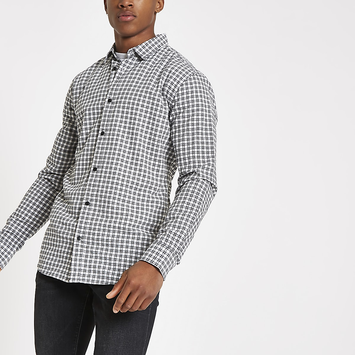 Only & Sons Tony blue check shirt
