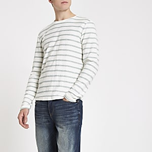 Only & Sons dark green stripe top