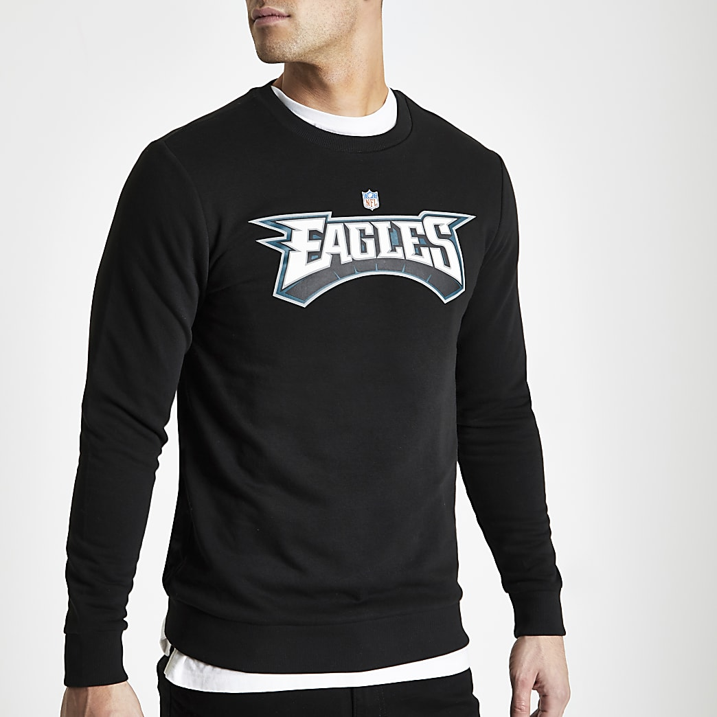 Only & Sons black NFL Eagles sweatshirt