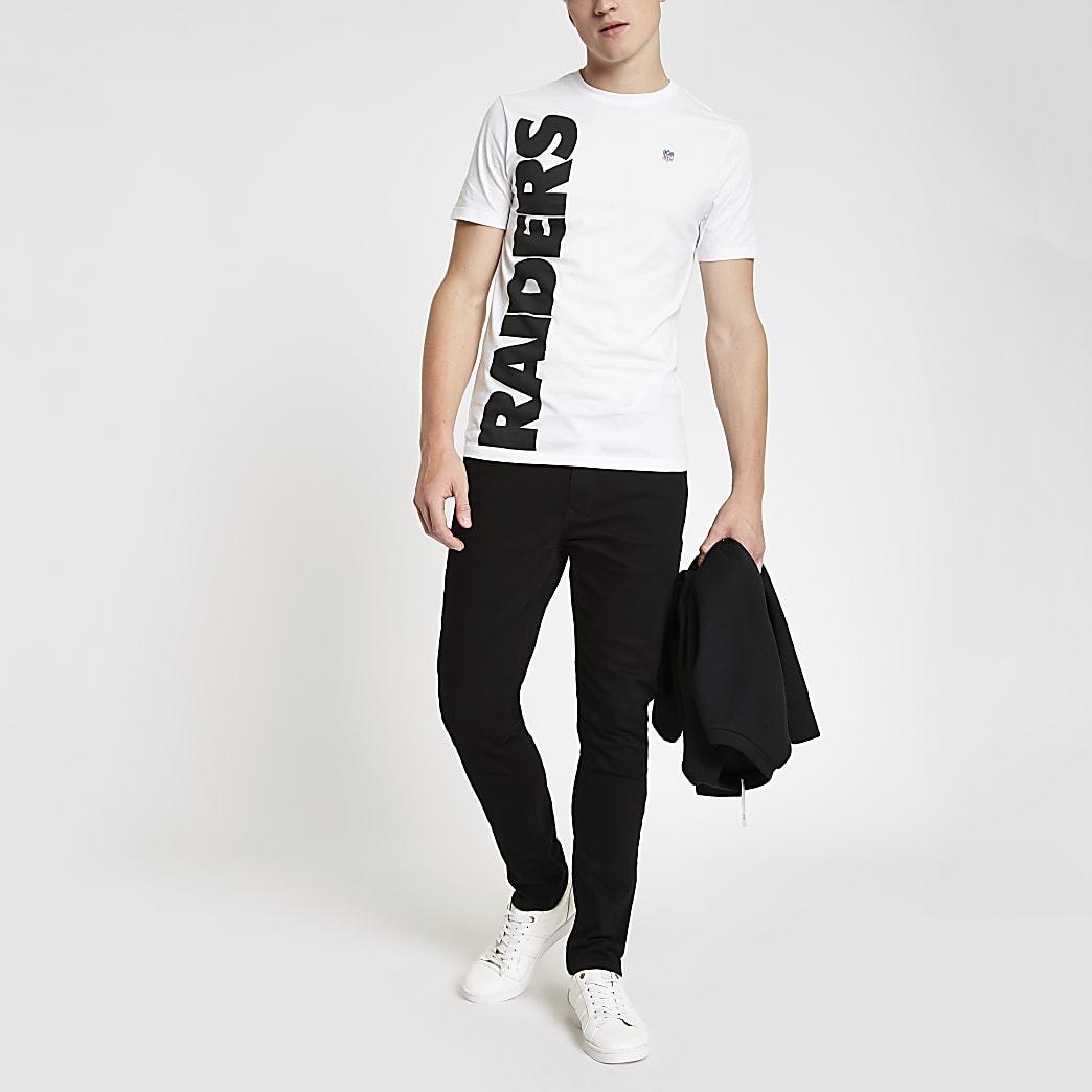 Only & Sons – T-shirt NFL Raiders blanc