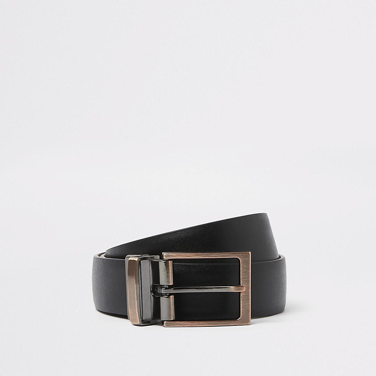 Zwarte aan te zijden draagbare riem met gesp