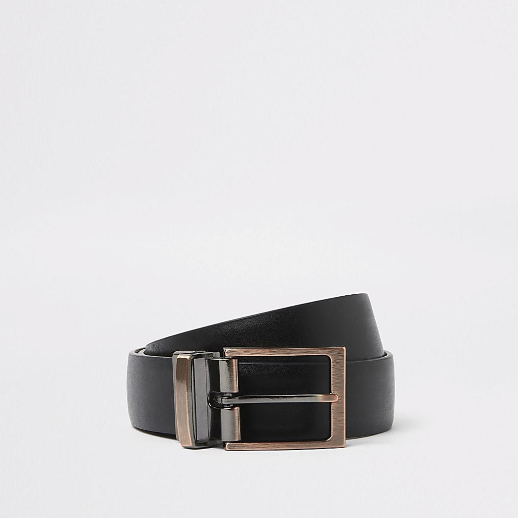 Black reversible buckle belt