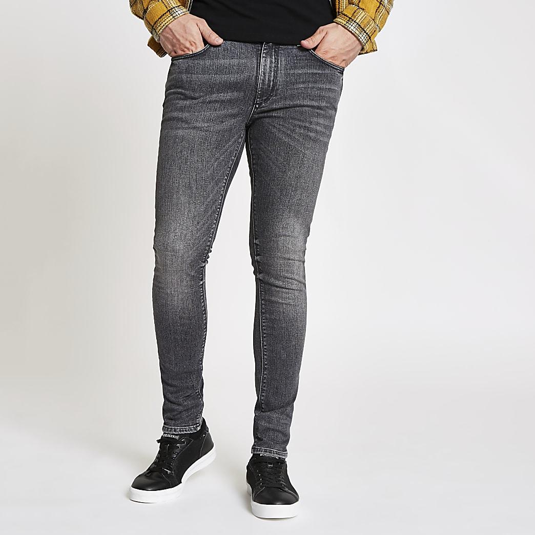 Sid - Zwarte wash skinny jeans