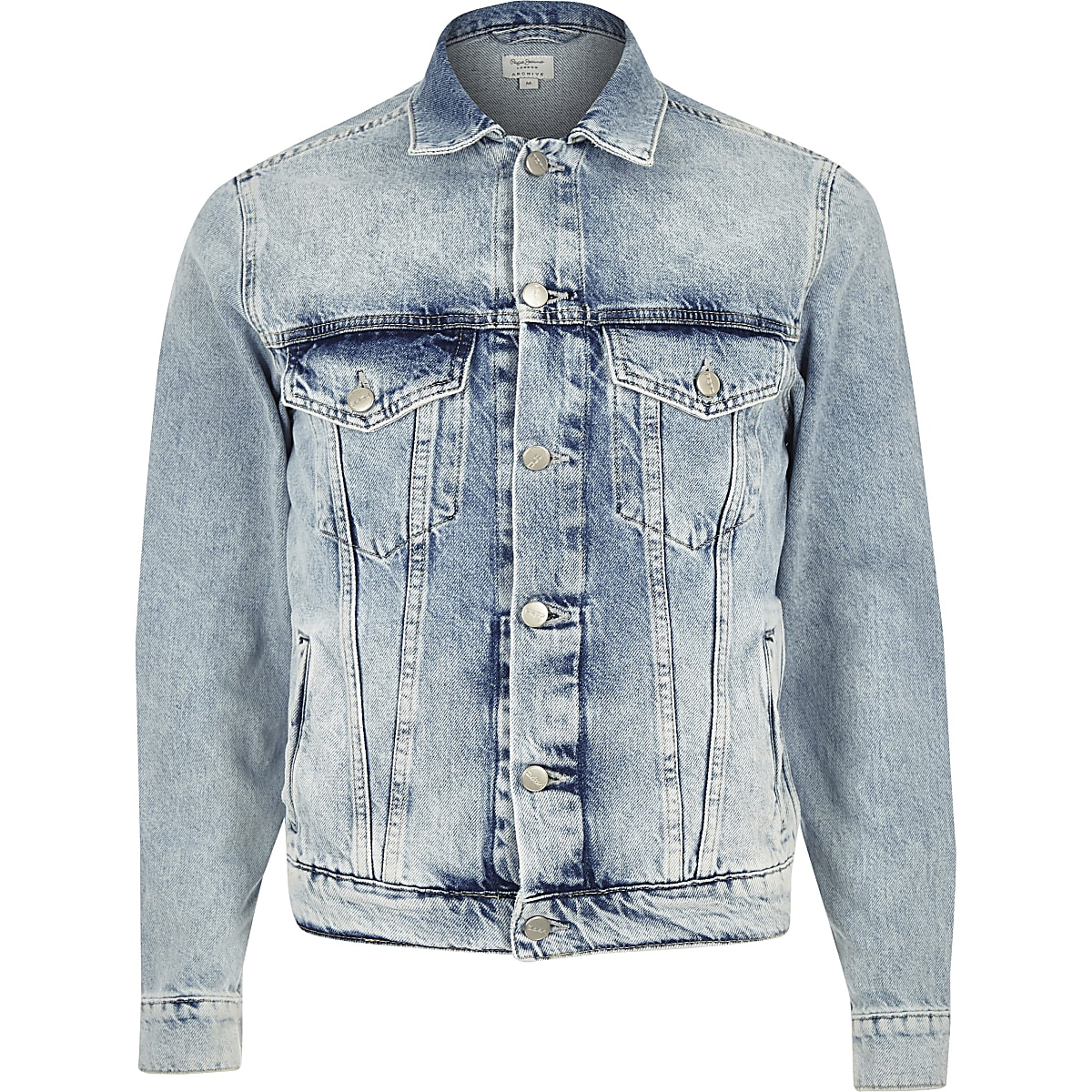 best website f0594 d5bed Pepe Jeans light blue denim jacket