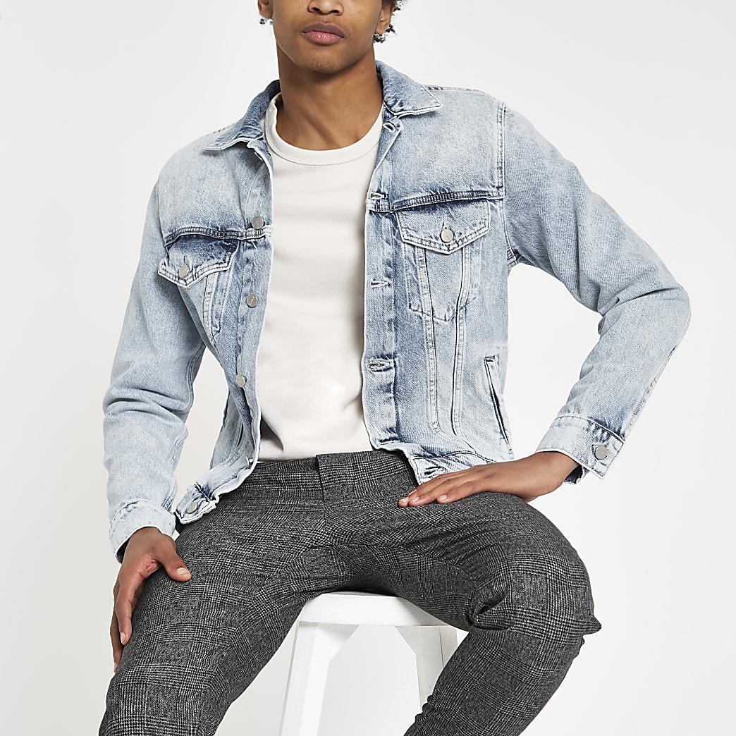 Pepe Jeans – Veste en denim bleu clair