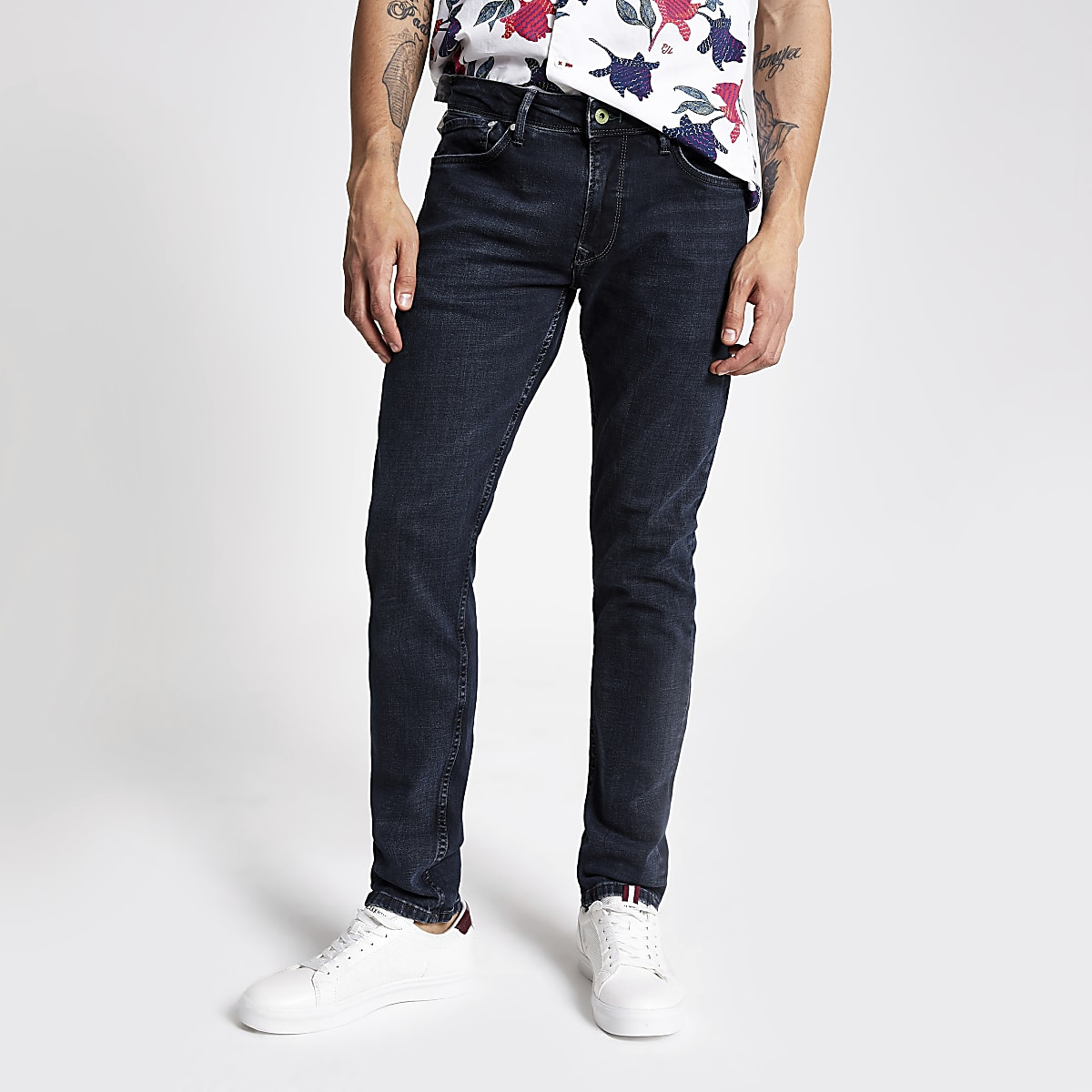 Pepe Jeans black blue skinny jeans