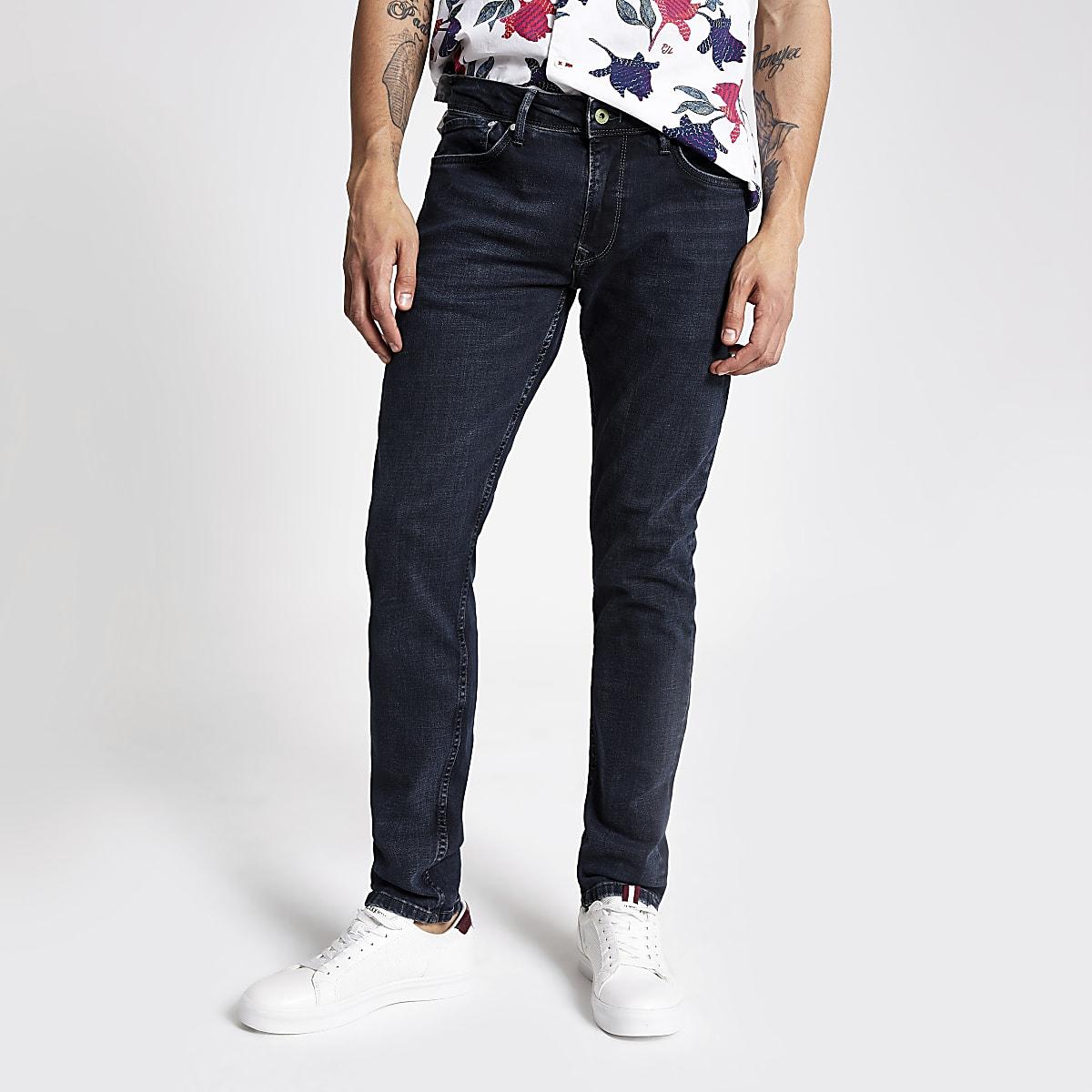 Pepe Jeans – Jean skinny bleu noir