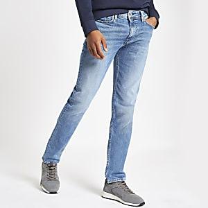 Pepe Jeans - Luke - Donkerblauwe smaltoelopende slim-fit jeans