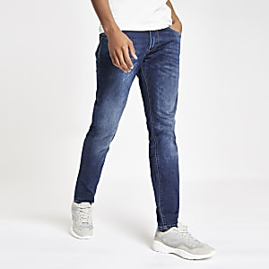 Pepe Jeans - Stanley - Middenblauwe smaltoelopende jeans