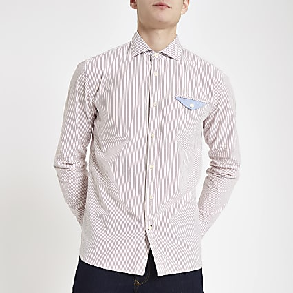 Pepe Jeans pink stripe regular fit shirt