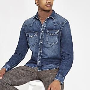 Pepe Jeans - Blauw denim overhemd
