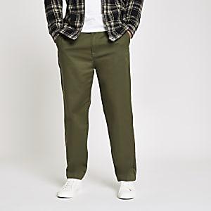 Lee – Pantalon chino décontracté vert foncé