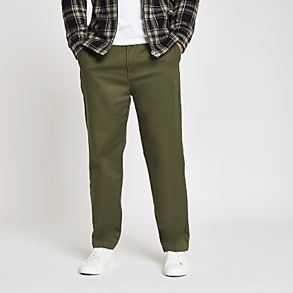 Lee dark green relaxed chino trousers