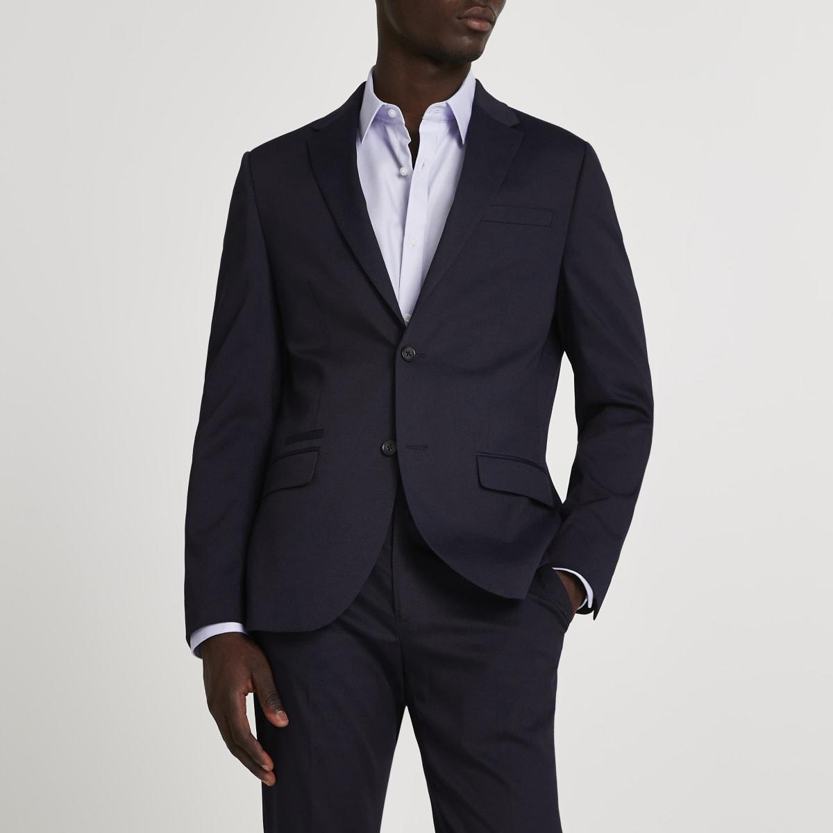 Strukturierte Skinny Anzugjacke mit Stretch