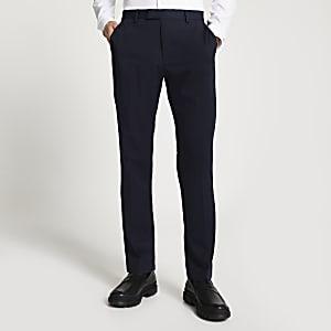 Pantalon de costume bleu marine coupe slim