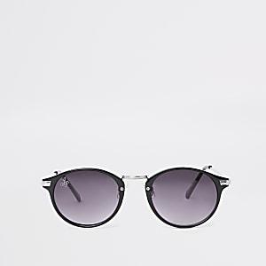 Jeepers Peepers – Schwarze, runde Sonnenbrille