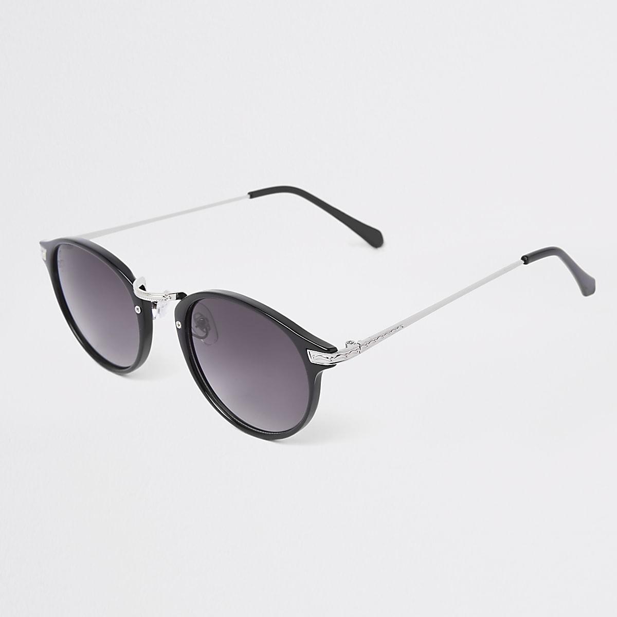 b00860102671c7 Jeepers Peepers - Zwarte ronde zonnebril - Ronde zonnebrillen ...