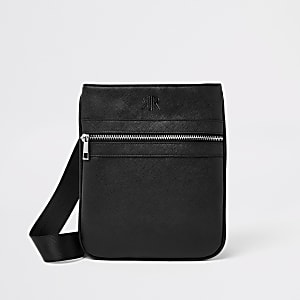 Black flight cross body pouch