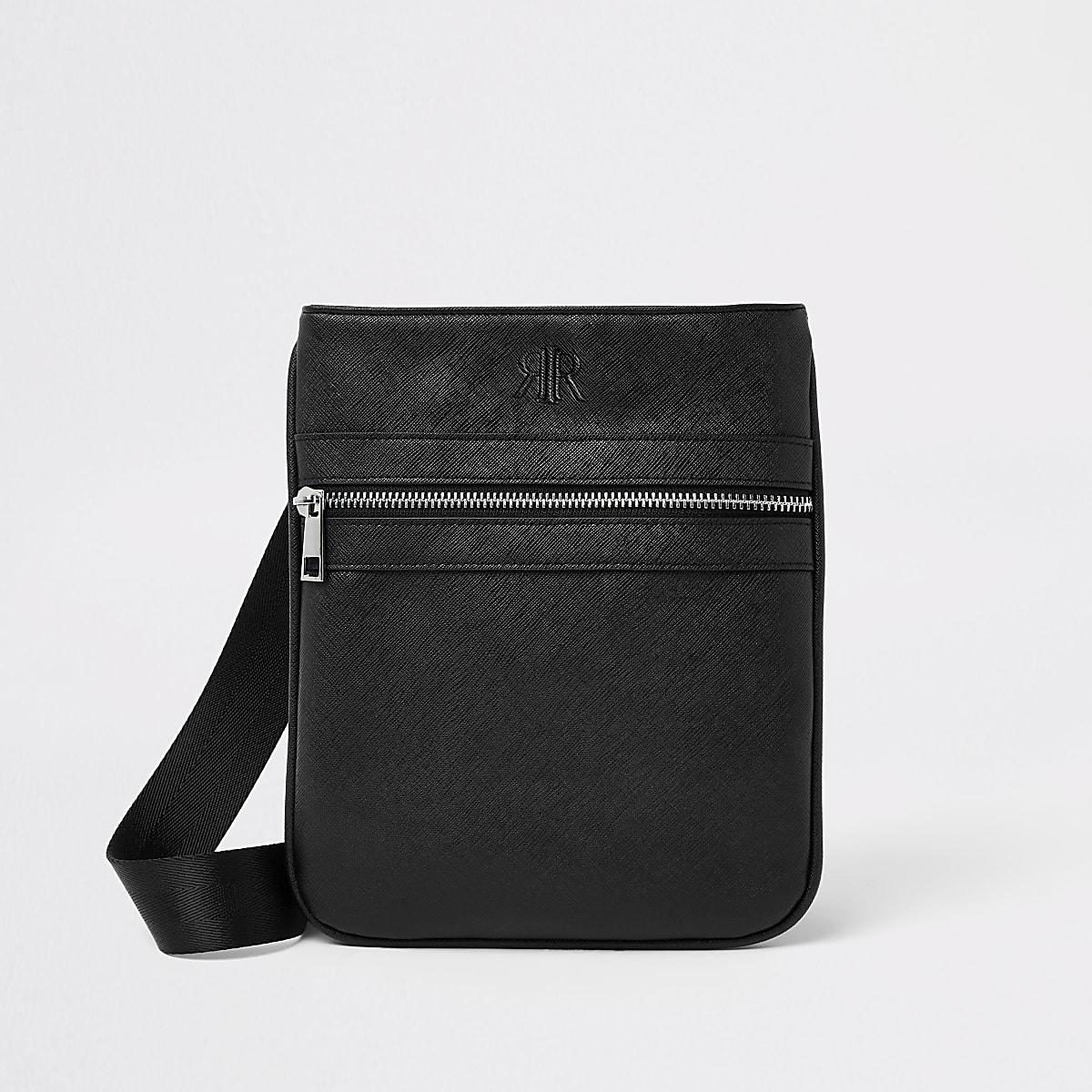 Black flight cross body pouch