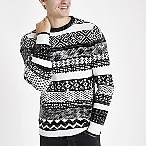 Ecru fairisle Christmas jumper