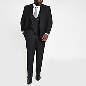 Big and Tall black suit trousers