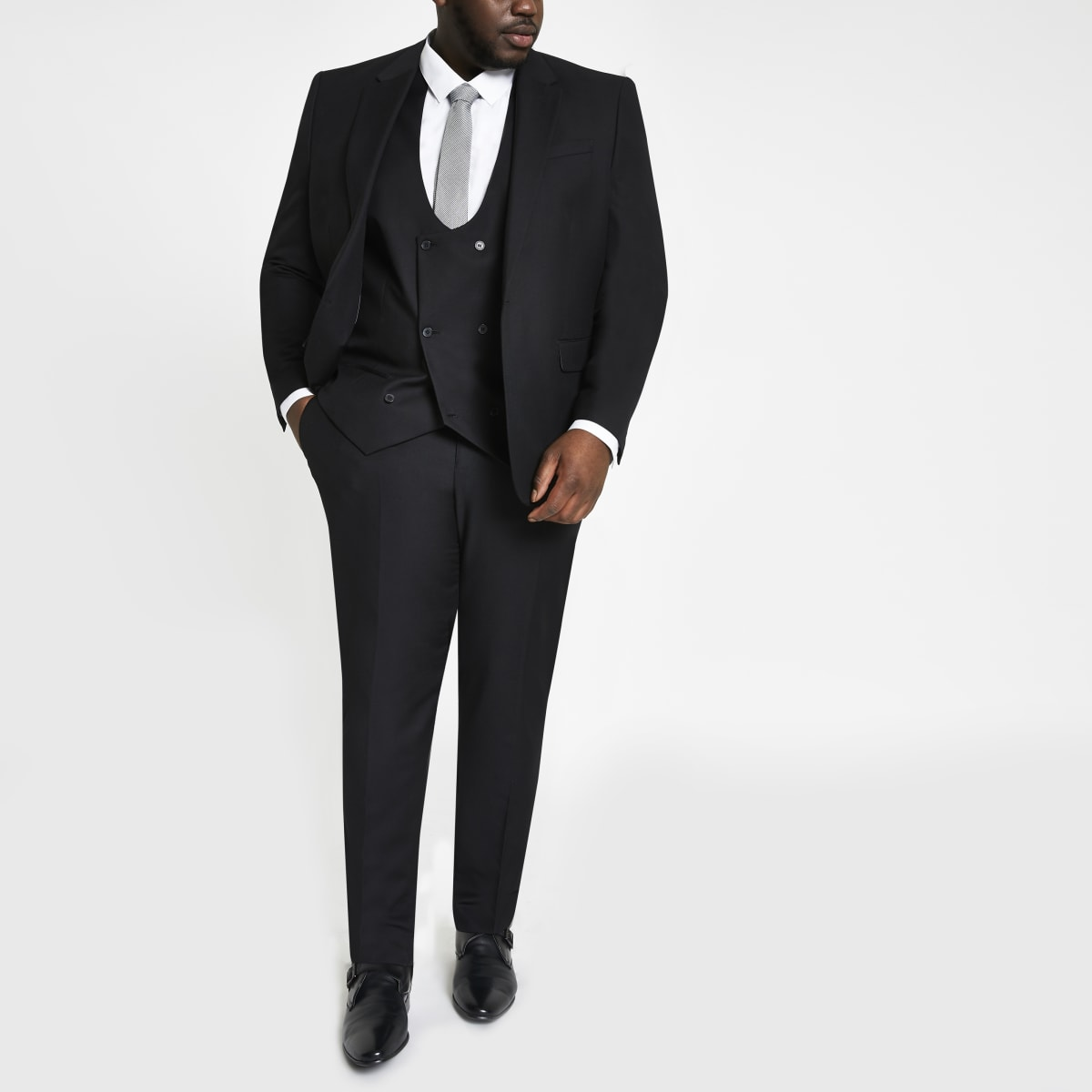 Big and Tall - Zwarte pantalon