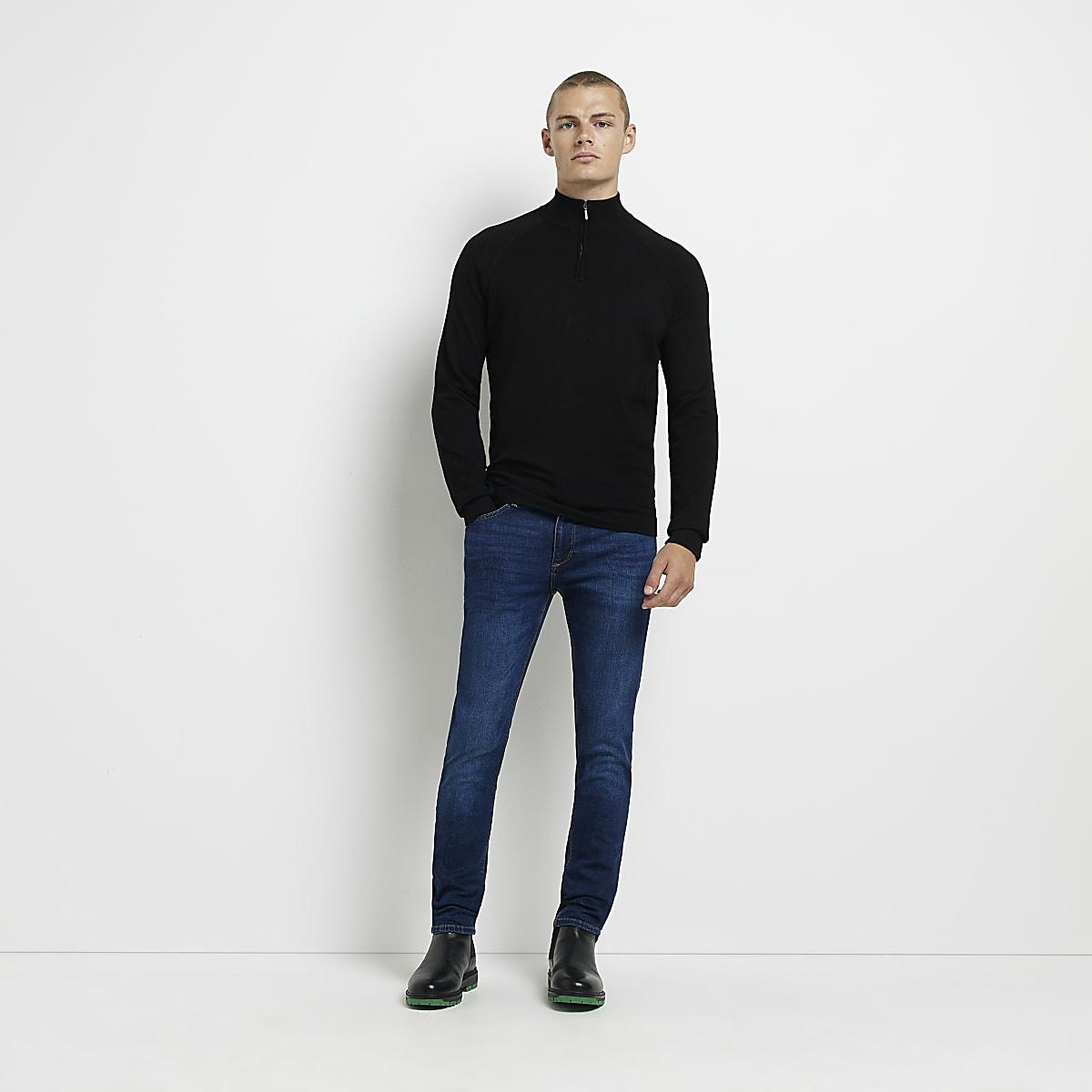 04ec43e2ba Dark Blue Skinny Jeans Mens - The Best Style Jeans