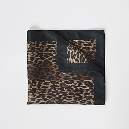 Leopard print pocket square