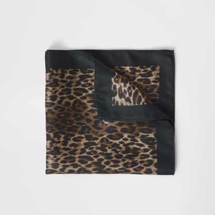 Leopard print pocket square