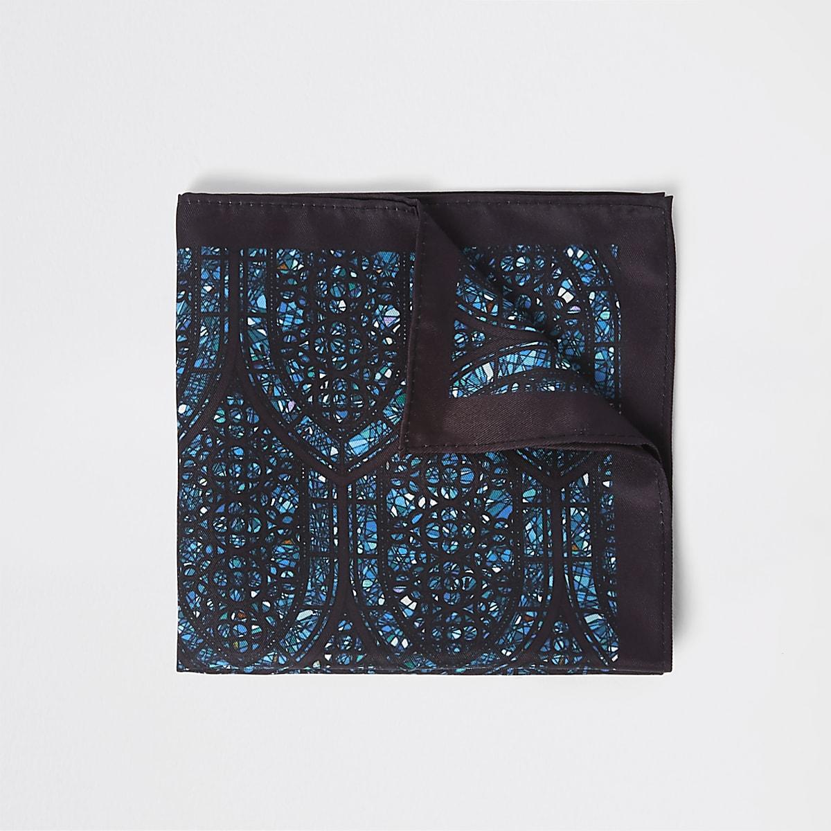 Mouchoir imprimé vitrail noir