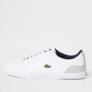 Lacoste - Witte leren sneakers met contrast