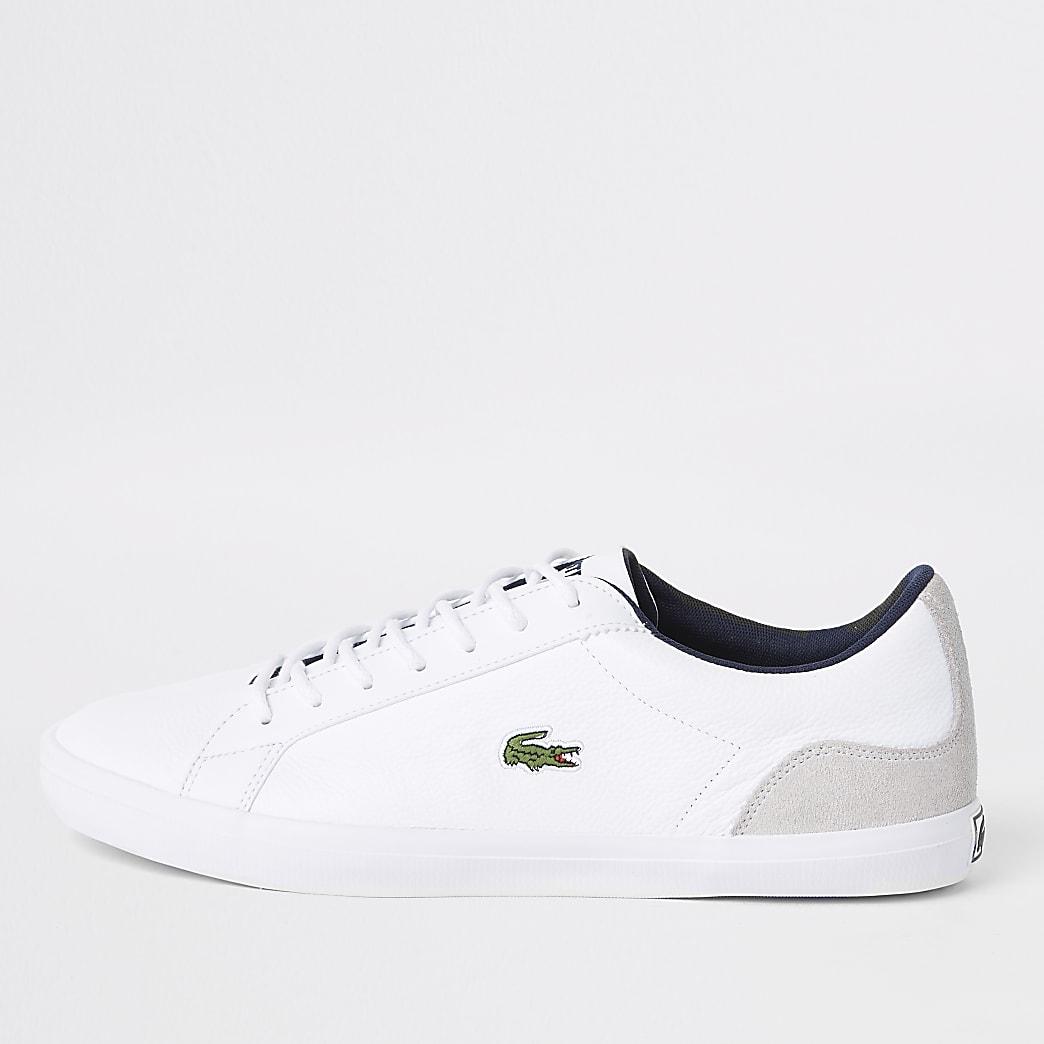 Lacoste – Baskets en cuir blanches contrastées