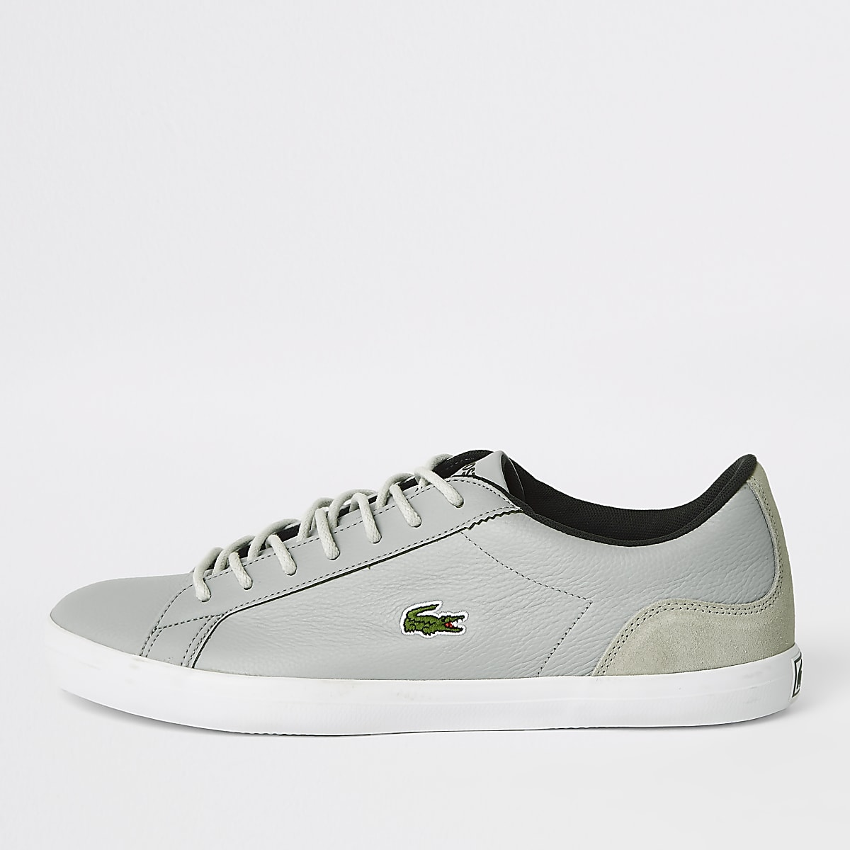 85df70c96 Lacoste grey leather lace-up trainers - Trainers - Shoes   Boots - men
