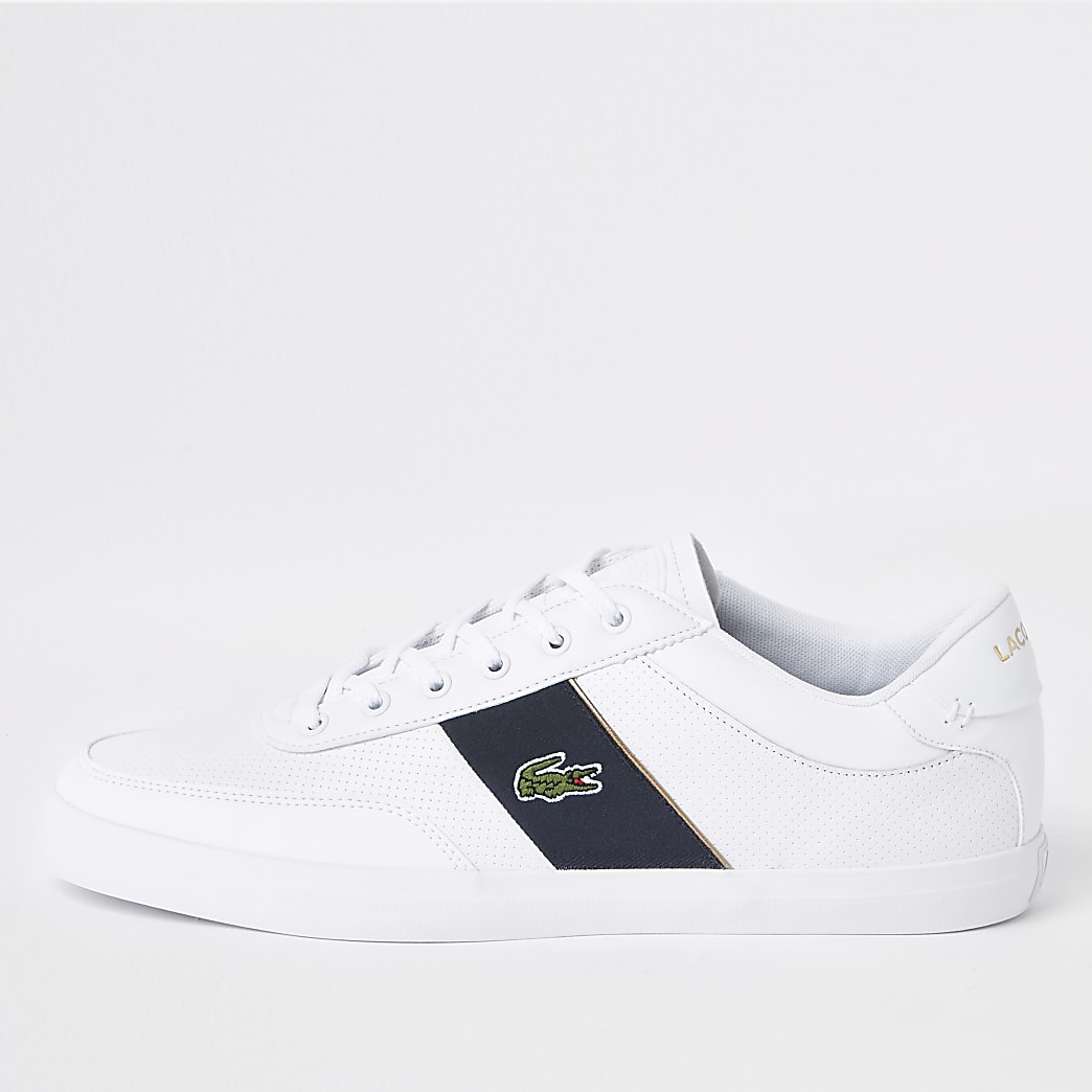 Lacoste – Court-Master – Baskets en cuir blanches