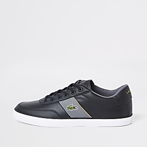 Lacoste black leather Courtmaster sneakers