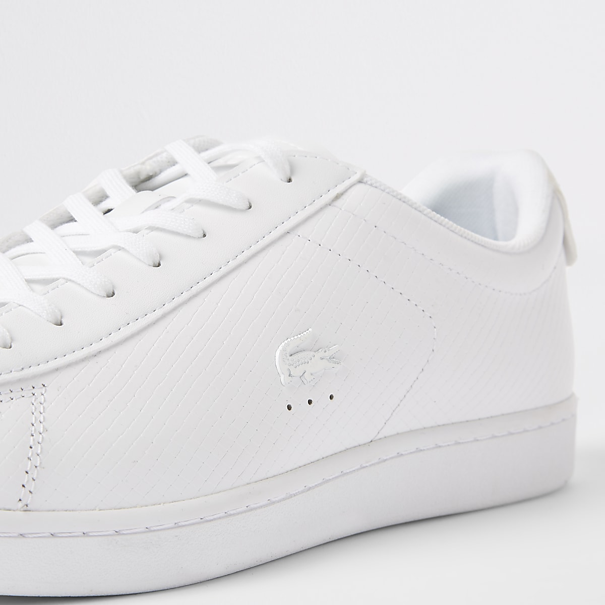 the best attitude 53e0a b46b3 Lacoste white leather lace-up trainers