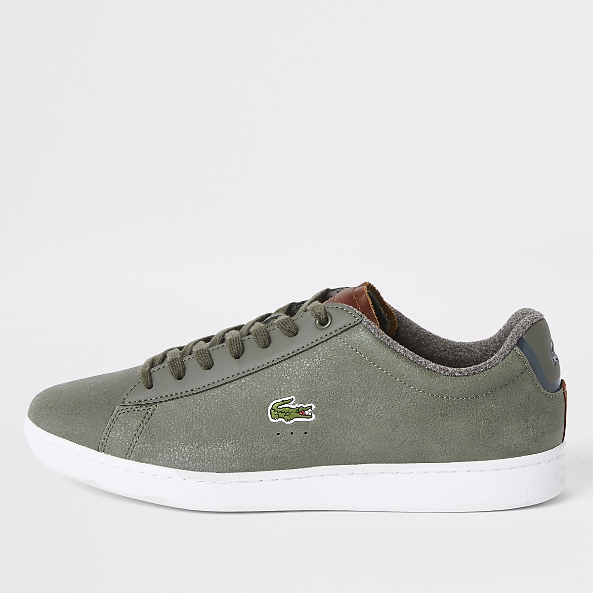 Green Court Trainers Lacoste Leather Lace Up kwPX8nN0OZ