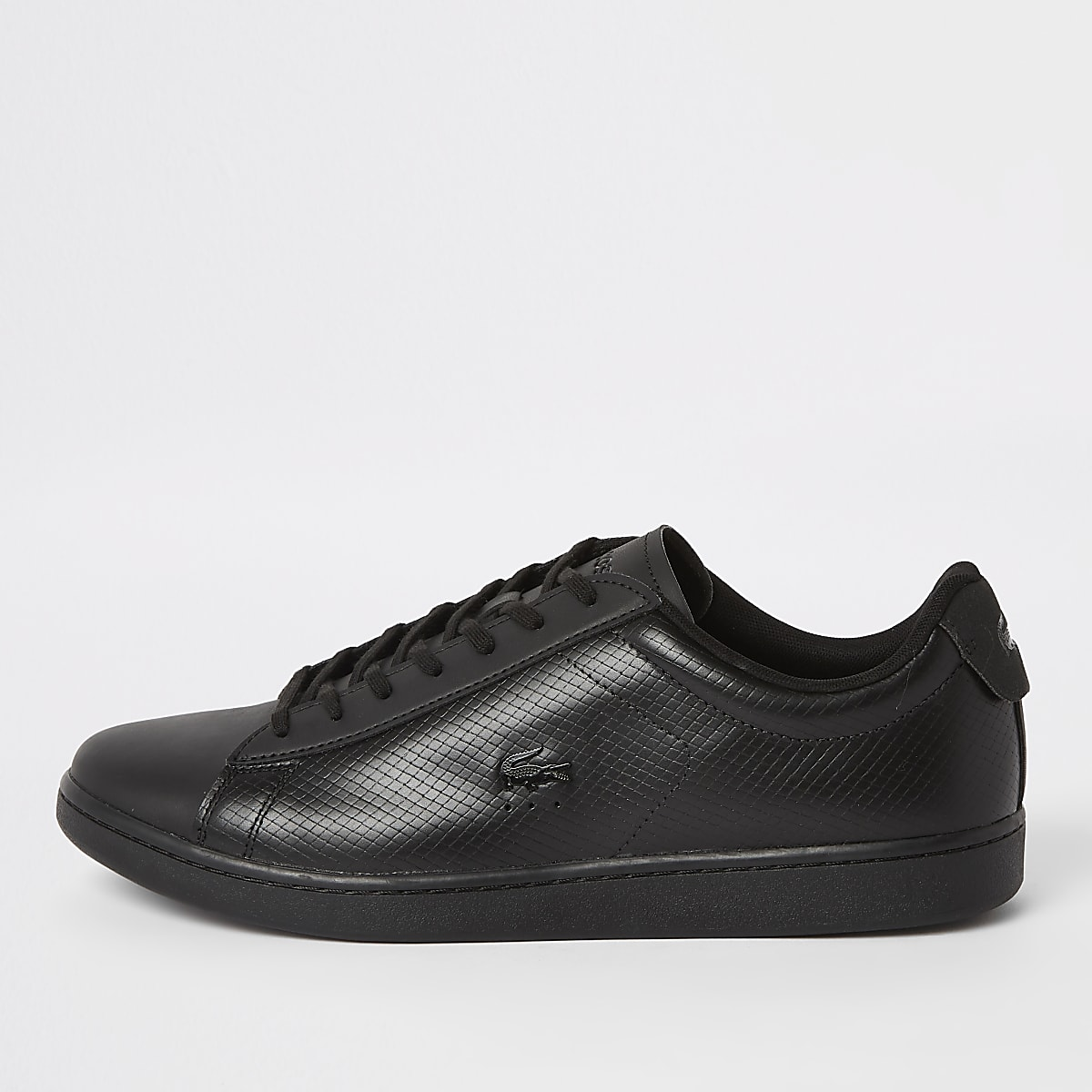 a9855c490 Lacoste black leather lace-up trainers - Trainers - Shoes   Boots - men