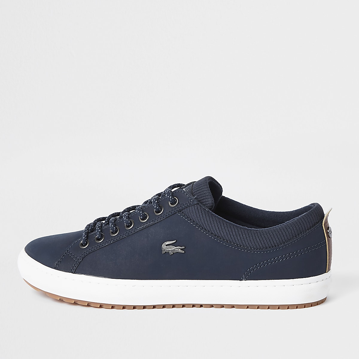02533ecb0c2 Lacoste navy leather lace-up trainers - Trainers - Shoes   Boots - men