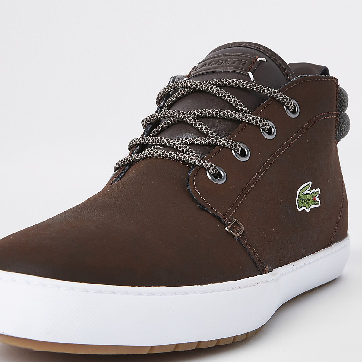 acfe2e33b Lacoste brown leather mid top trainers - Trainers - Shoes   Boots - men