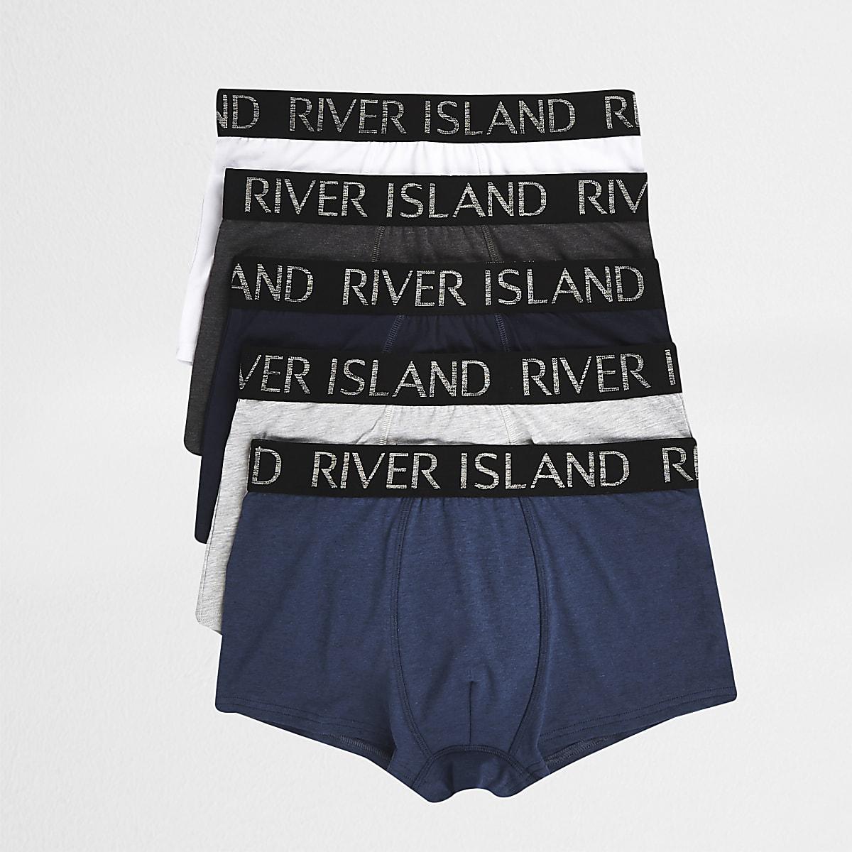 Blue RI waistband hipster 5 pack