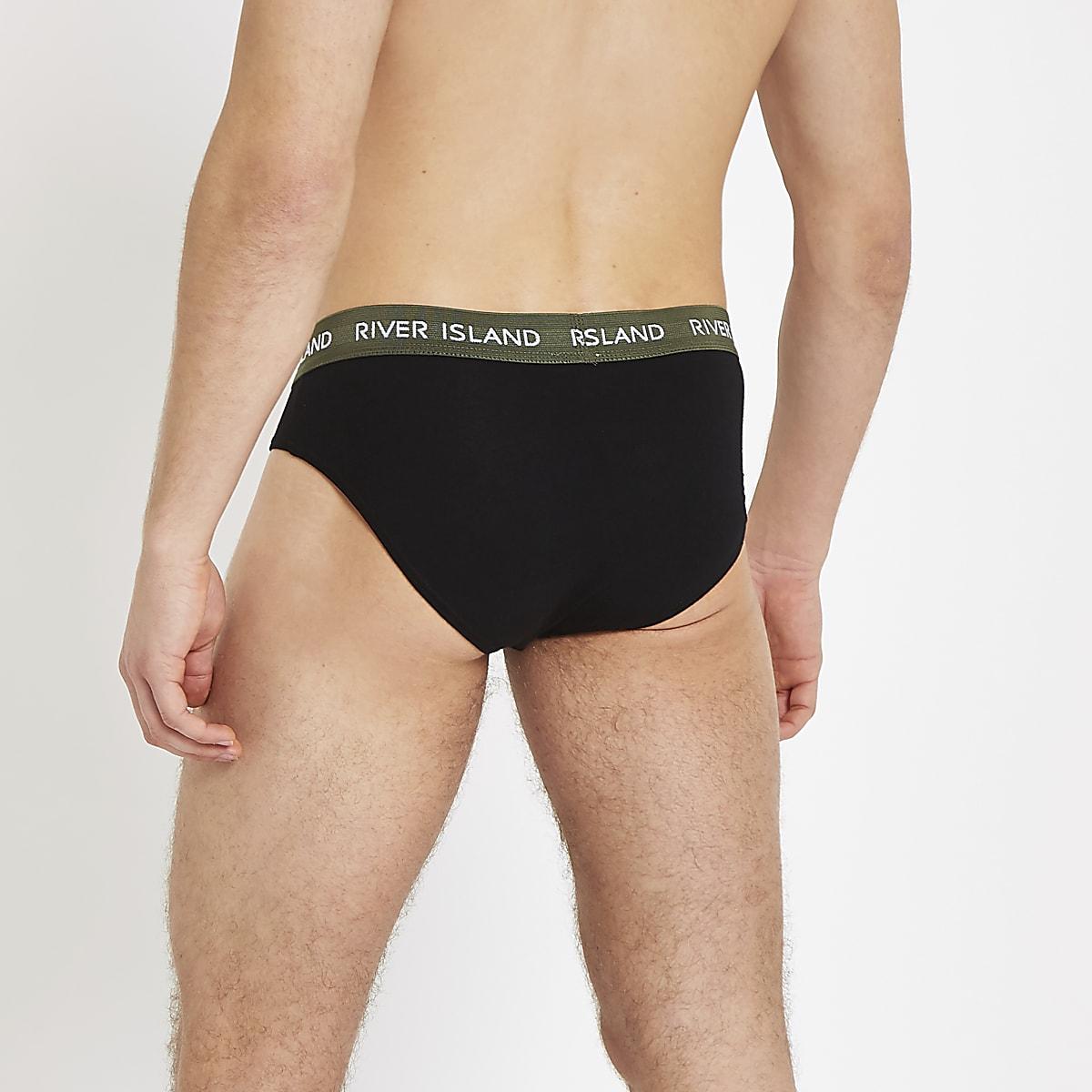 222e12b74ace Black RI briefs 3 pack - Briefs - Underwear - men