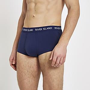 Lot de 3 boxers ajustés bleus