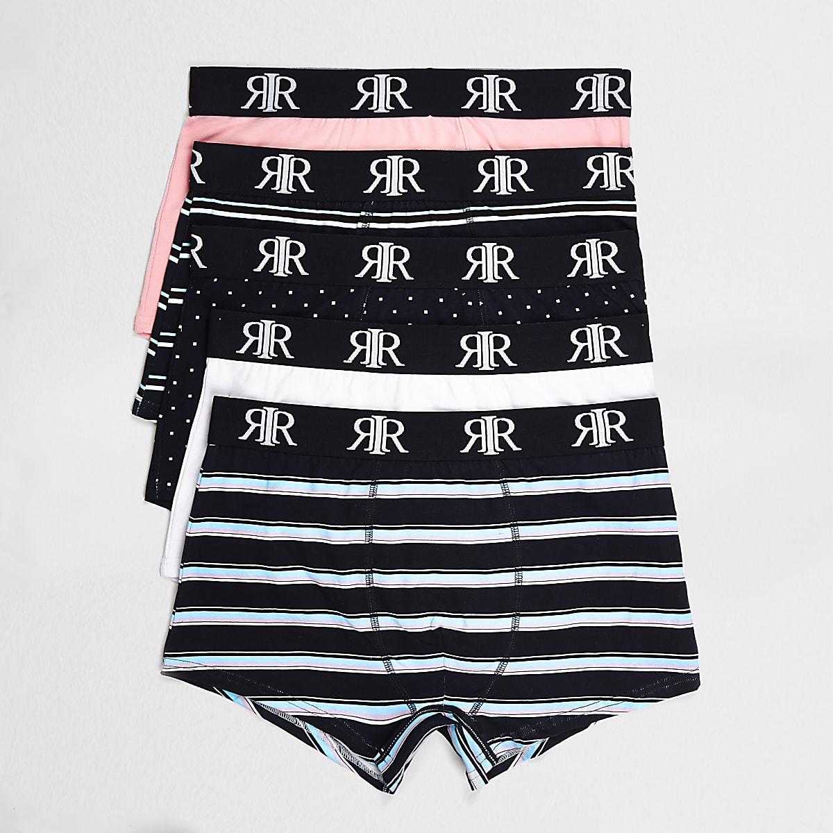 Black stripe hipsters 5 pack