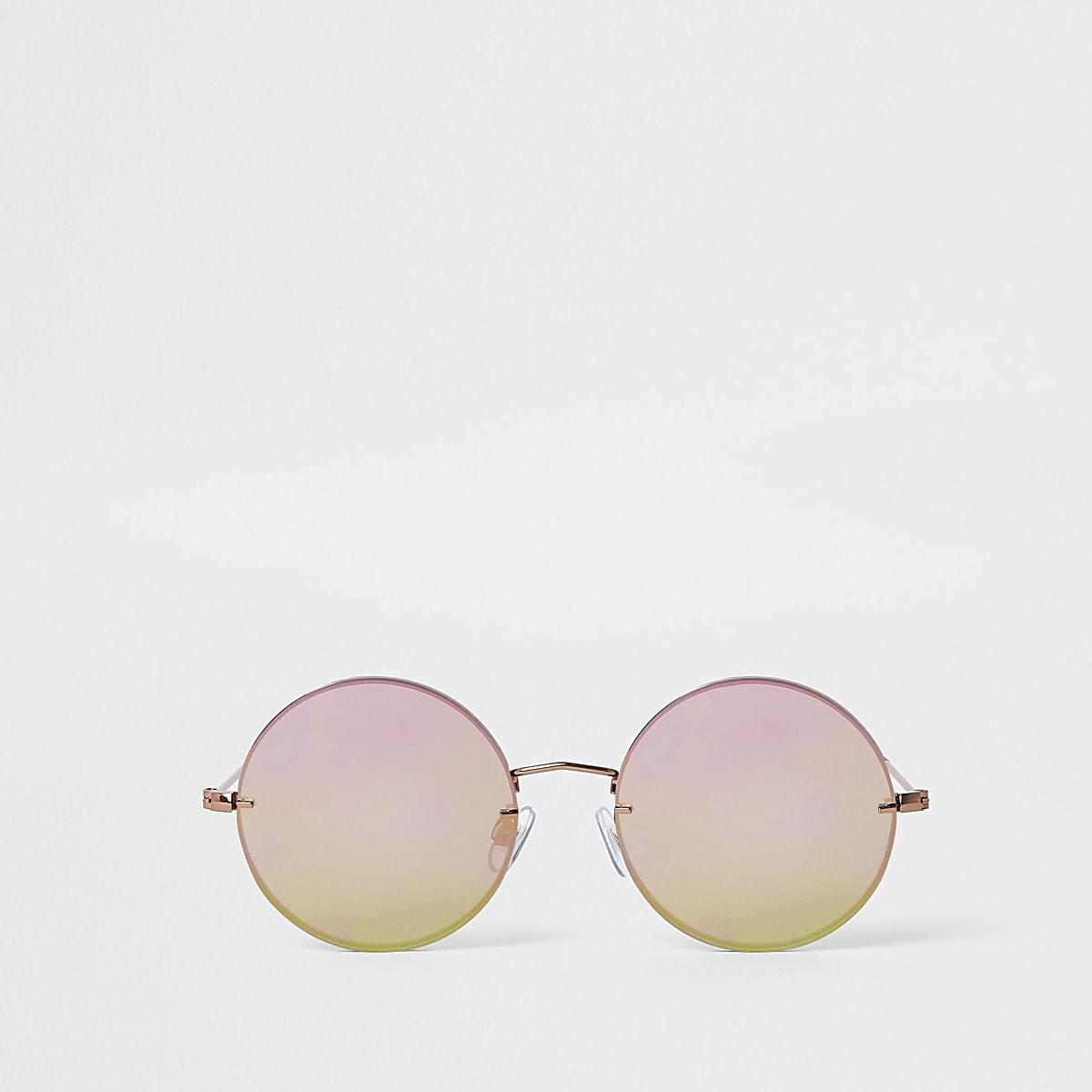 Zonnebril Met Ronde Glazen.Grey Round Retro Revo Lens Sunglasses