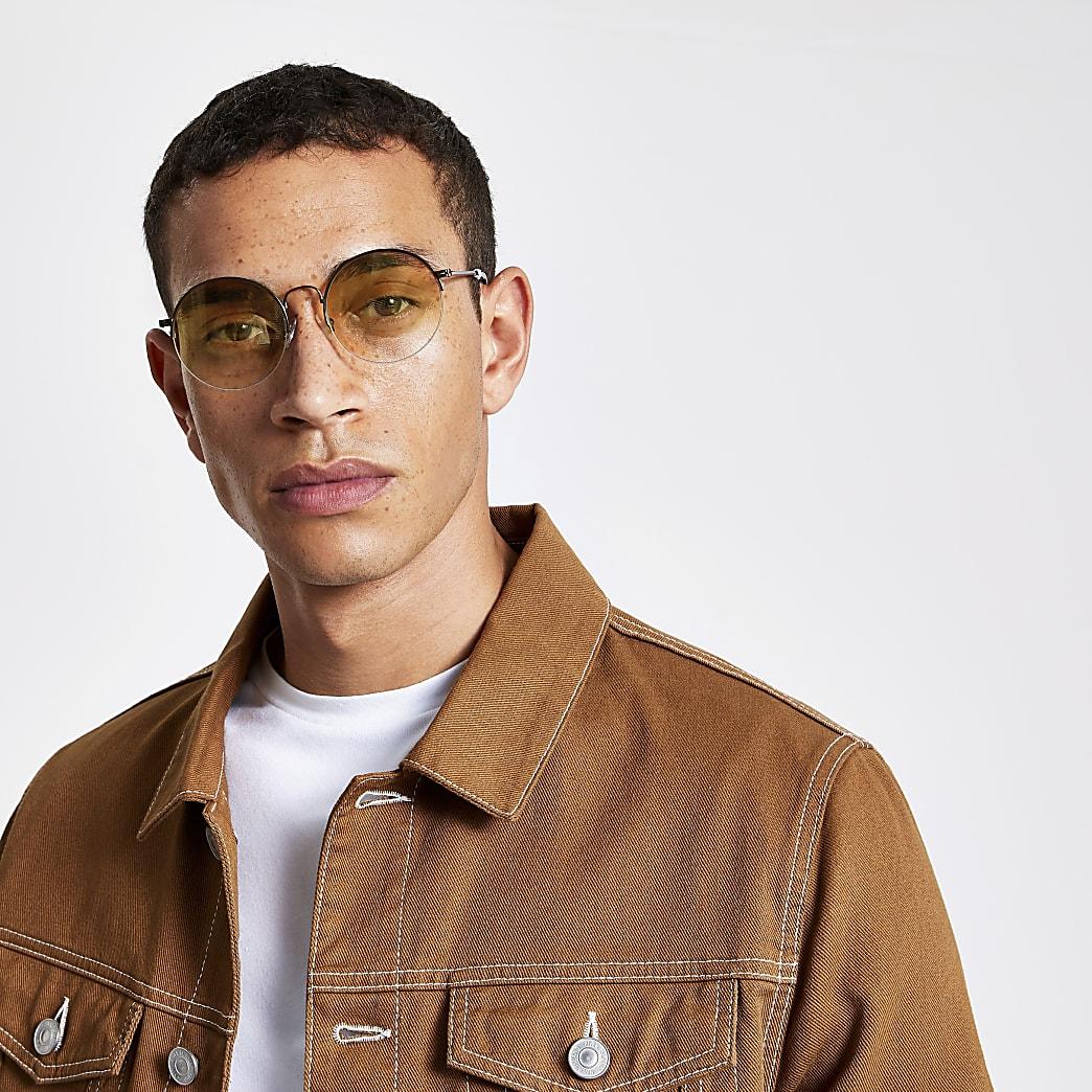Bruine zonnebril met ronde glazen