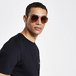 Runde, rote Sonnenbrille